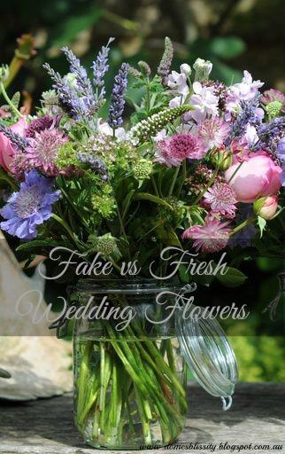 Fake vs fresh wedding flowers