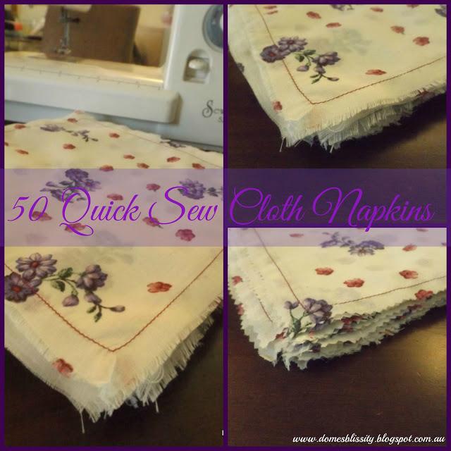 50 Quick Sew Cloth Napkins
