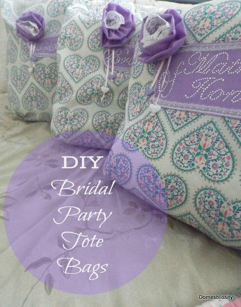 DIY Bridal Party Tote Bags