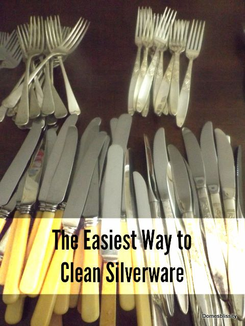 The easiest way to clean silverware
