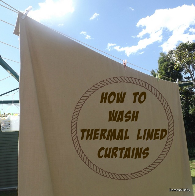 How to wash thermal lined curtains