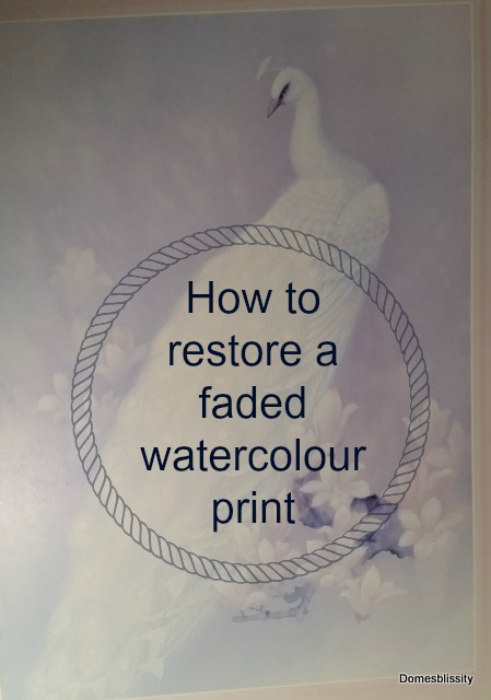 How to restore a faded watercolour print