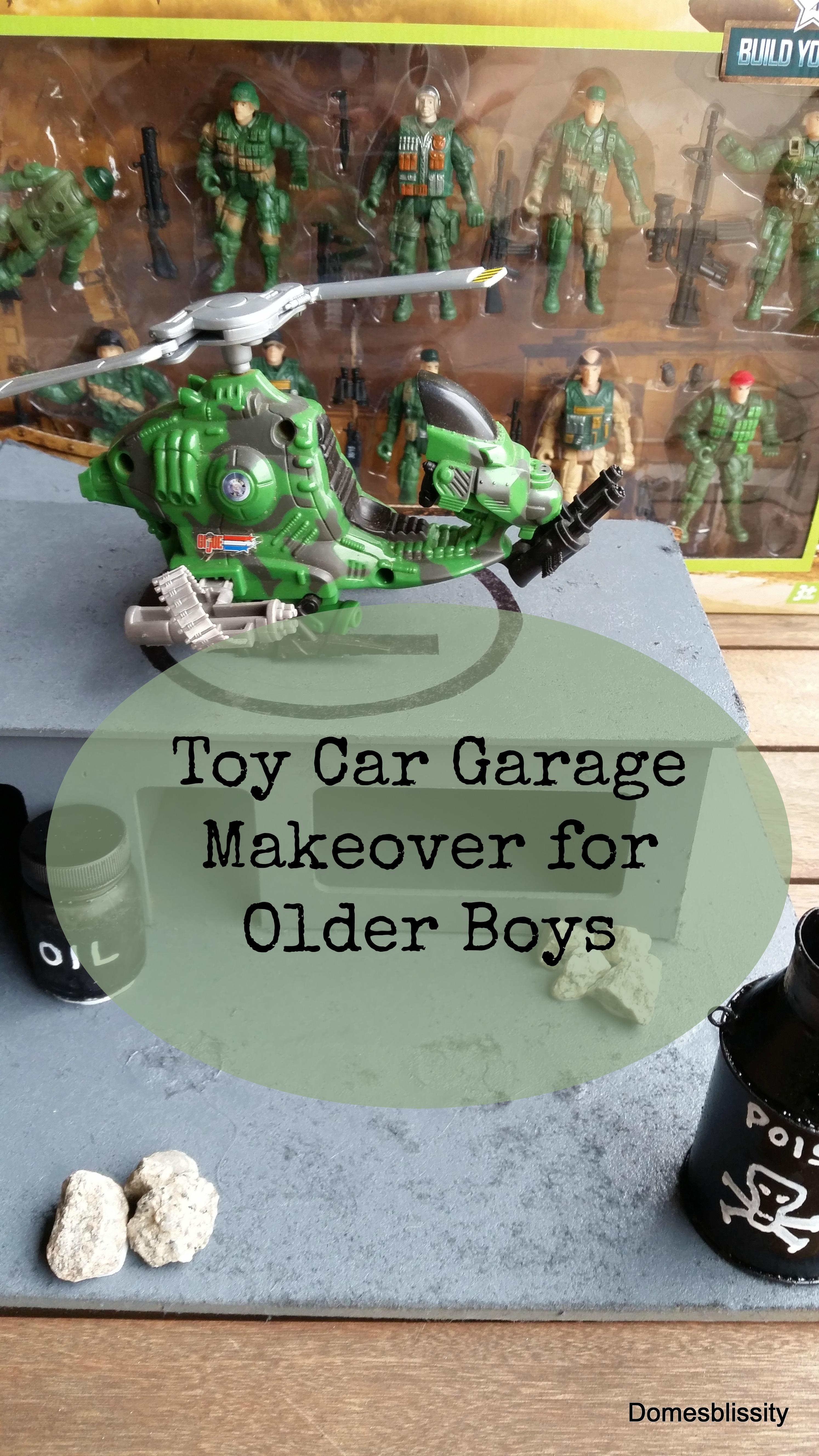 Toy Car Garage Makeover for Older Boys