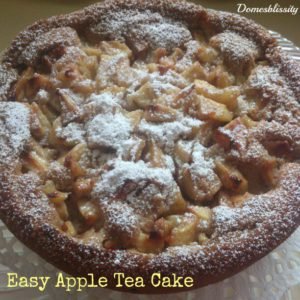 Easy Apple Tea Cake (Dairy & Egg Free)
